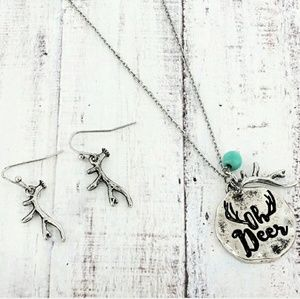 'Oh Deer' Necklace and Earrings Set